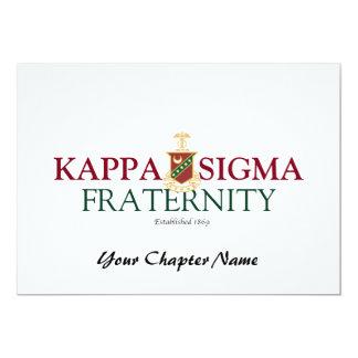 Kappa Sigma 5x7 Paper Invitation Card