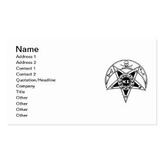 Kappa Sigma Badge Business Card