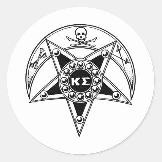 Kappa Sigma Badge Classic Round Sticker