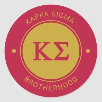 Kappa Sigma | Badge Classic Round Sticker