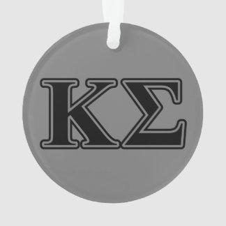 Kappa Sigma Black Letters