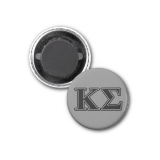 Kappa Sigma Black Letters 1 Inch Round Magnet