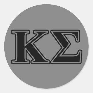 Kappa Sigma Black Letters Classic Round Sticker