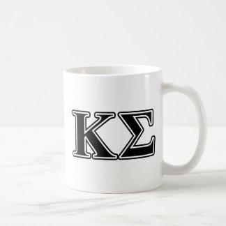 Kappa Sigma Black Letters Coffee Mug
