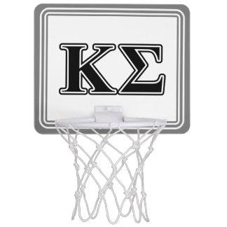 Kappa Sigma Black Letters Mini Basketball Hoop