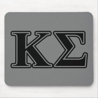 Kappa Sigma Black Letters Mouse Pad