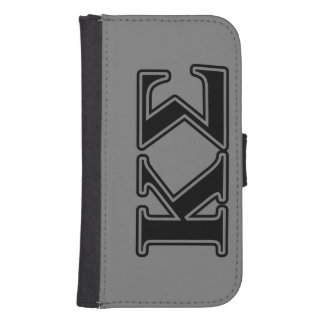 Kappa Sigma Black Letters Galaxy S4 Wallet Cases