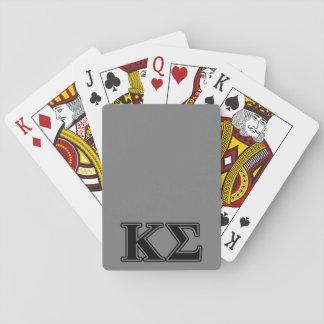 Kappa Sigma Black Letters Poker Cards