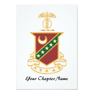"Kappa Sigma Crest 5"" X 7"" Invitation Card"