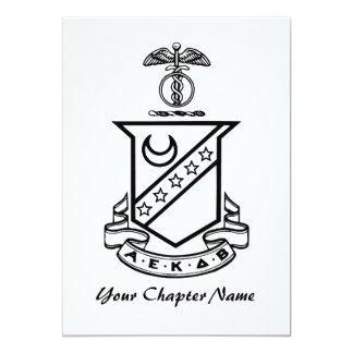 Kappa Sigma Crest - Black and White Card