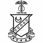 Kappa Sigma Crest - Black and White Acrylic Cut Out