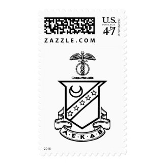 Kappa Sigma Crest - Black and White Postage