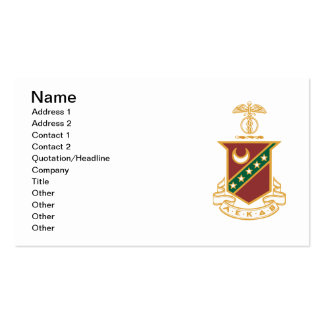 Kappa Sigma Crest Double-Sided Standard Business Cards (Pack Of 100)