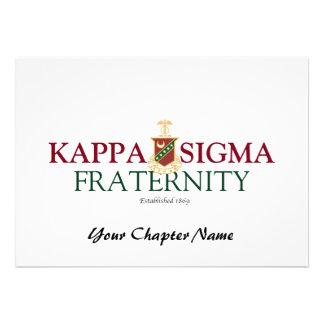 Kappa Sigma Custom Invitation