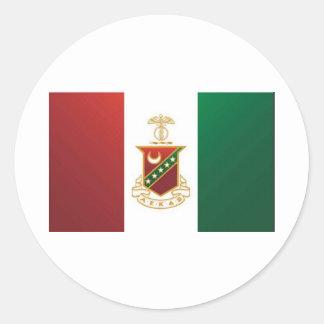 Kappa Sigma Flag Round Stickers