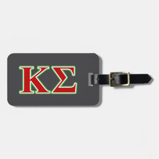 Kappa Sigma Red and Green Letters Bag Tag