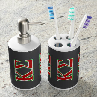 Kappa Sigma Red and Green Letters Bath Set