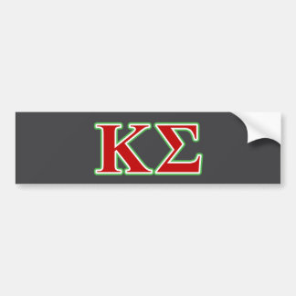 Kappa Sigma Red and Green Letters Car Bumper Sticker