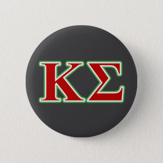 Kappa Sigma Red and Green Letters Button