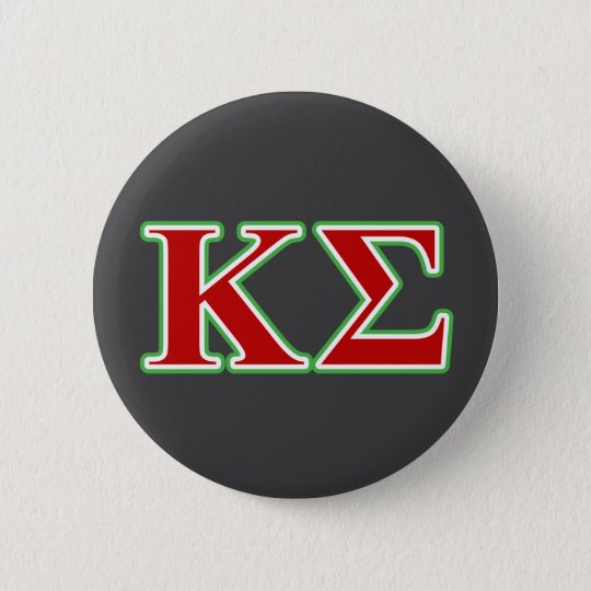 Kappa Sigma Red And Green Letters Button Zazzle
