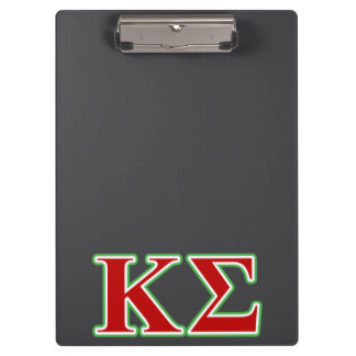 Kappa Sigma Red and Green Letters Clipboard