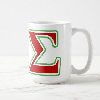 Kappa Sigma Red and Green Letters Coffee Mug