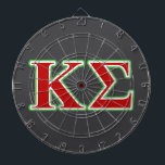 "Kappa Sigma Red and Green Letters Dartboard With Darts<br><div class=""desc"">Check out these official Kappa Sigma designs! Personalize your own Greek merchandise on Zazzle.com! Click the Customize button to insert your own name, class year, or club to make a unique product. Try adding text using various fonts &amp; view a preview of your design! Zazzle&#39;s easy to customize products have...</div>"