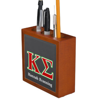 Kappa Sigma Red and Green Letters Desk Organizers