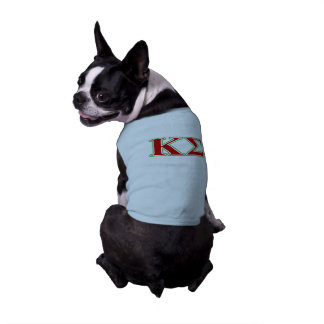 Kappa Sigma Red and Green Letters Pet Clothes