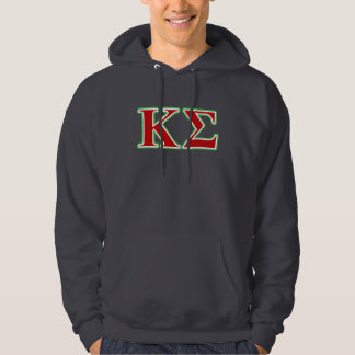 Kappa Sigma Red and Green Letters Hoodie
