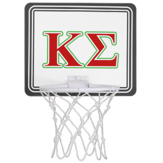 Kappa Sigma Red and Green Letters Mini Basketball Hoops