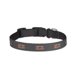 Kappa Sigma Red and Green Letters Pet Collar