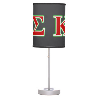 Kappa Sigma Red and Green Letters Table Lamp