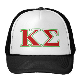 Kappa Sigma Red and Green Letters Trucker Hats