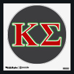"""Kappa Sigma Red and Green Letters Wall Decal<br><div class=""""desc"""">Check out these official Kappa Sigma designs! Personalize your own Greek merchandise on Zazzle.com! Click the Customize button to insert your own name, class year, or club to make a unique product. Try adding text using various fonts &amp; view a preview of your design! Zazzle&#39;s easy to customize products have...</div>"""