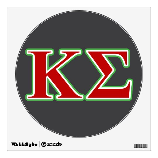 Kappa Sigma Red And Green Letters Wall Decal Zazzle Com