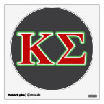 Kappa Sigma Red and Green Letters Wall Stickers