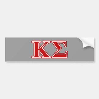 Kappa Sigma Red Letters Car Bumper Sticker