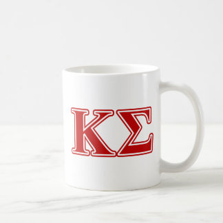 Kappa Sigma Red Letters Classic White Coffee Mug