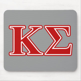 Kappa Sigma Red Letters Mouse Pad