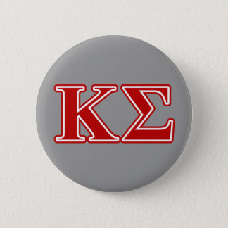 Kappa Sigma Red Letters Pinback Button