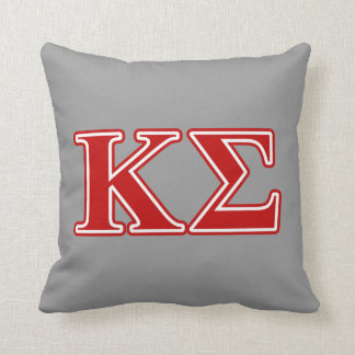 Kappa Sigma Red Letters Throw Pillows