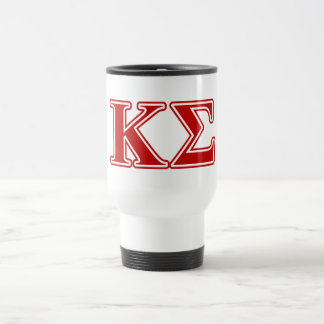 Kappa Sigma Red Letters Travel Mug