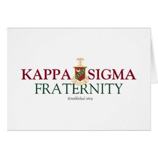 Kappa Sigma Stationery Note Card