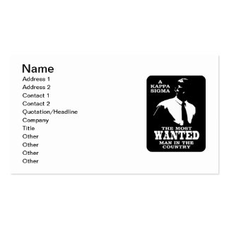 Kappa Sigma - The Most Wanted Business Card