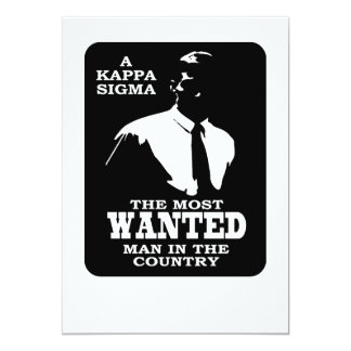 Kappa Sigma - The Most Wanted Card