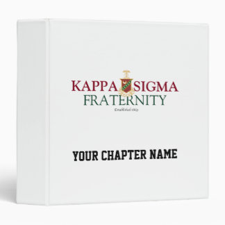 Kappa Sigma Vinyl Binder