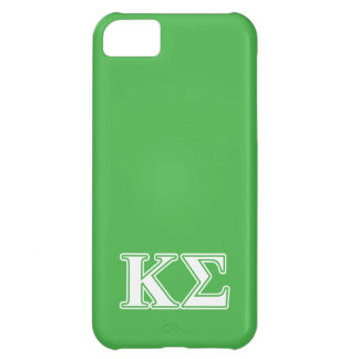 Kappa Sigma White and Green Letters Cover For iPhone 5C