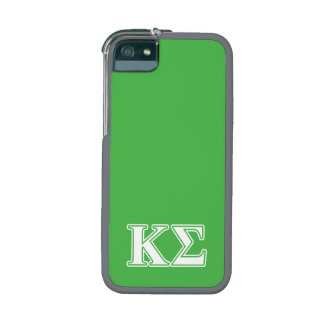 Kappa Sigma White and Green Letters Case For iPhone 5