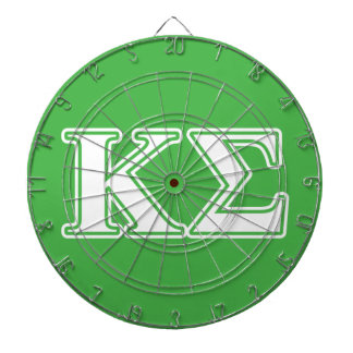 Kappa Sigma White and Green Letters Dart Boards